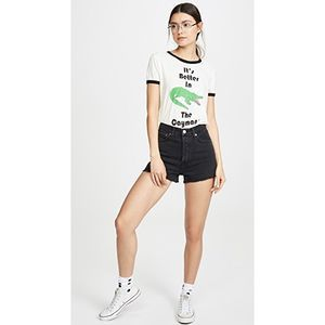 Wildfox Caymans Johnny Ringer Tee Shirt Graphic XS